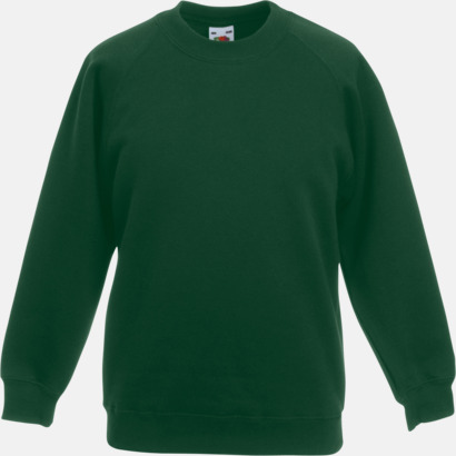 Bottle Green Tjocktröjor för barn med eget tryck