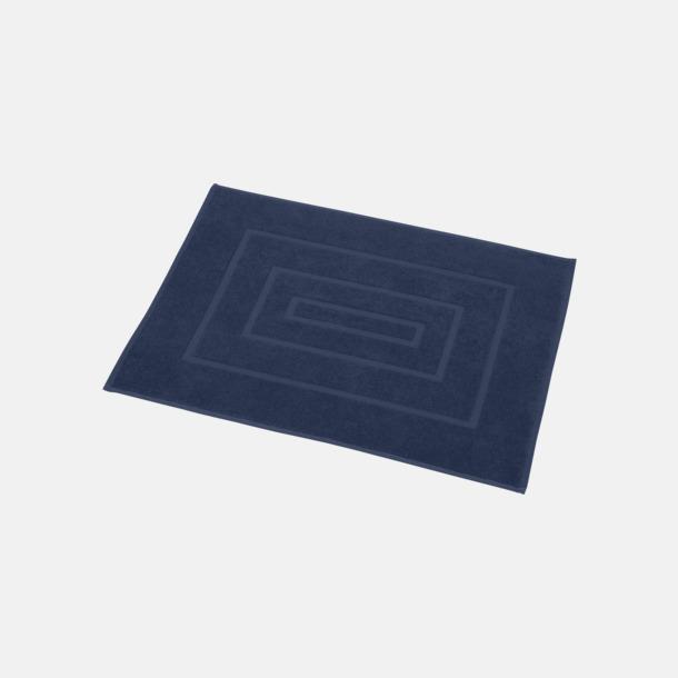 Marinblå Badrumsmatta handduk med reklambrodyr