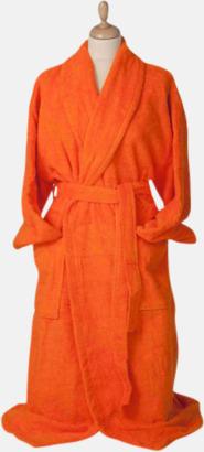 Bright Orange Färgglada badrockar med brodyr