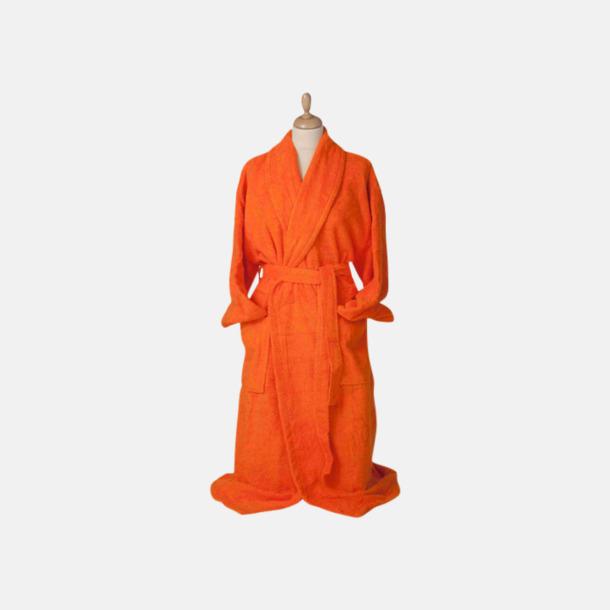Bright Orange (mörk) Färgglada badrockar med reklambrodyr