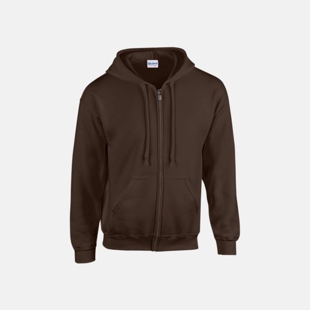 Dark Chocolate Heavy Blend-tröja i herrmodell med reklamtryck