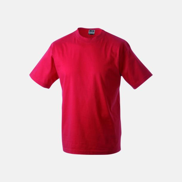 Röd Barn t-shirtar av kvalitetsbomull med eget tryck
