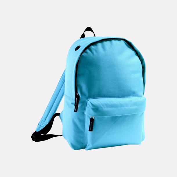 Sky Blue Billiga ryggsäckar med ege tryck