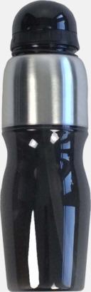 Svart Multipraktiska vattenflaskor med tryck