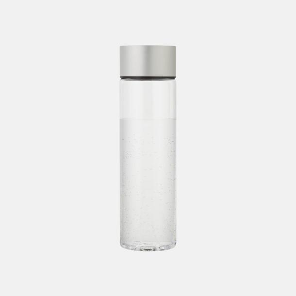 Transparent Klar/Silver Cylinderformade vattenflaskor med reklamtryck