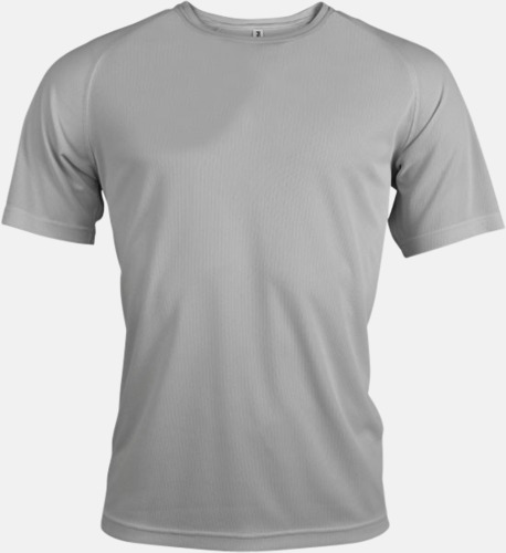 Fine Grey (solid) Sport t-shirts i många färger för herrar - med reklamtryck