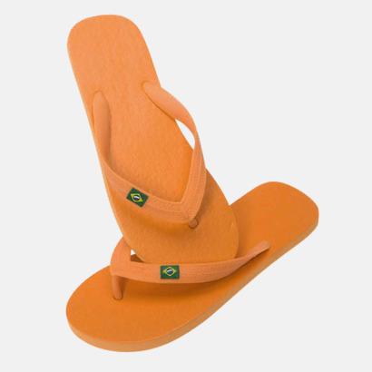 Orange Äkta Flip Flop från Brasilien med reklamtryck