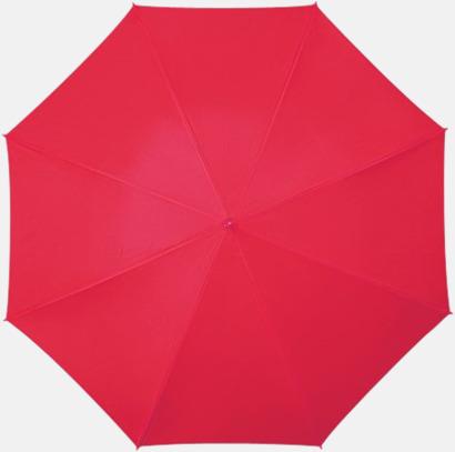 Röd Golfparaplyer med aluminium skaft - med reklamtryck