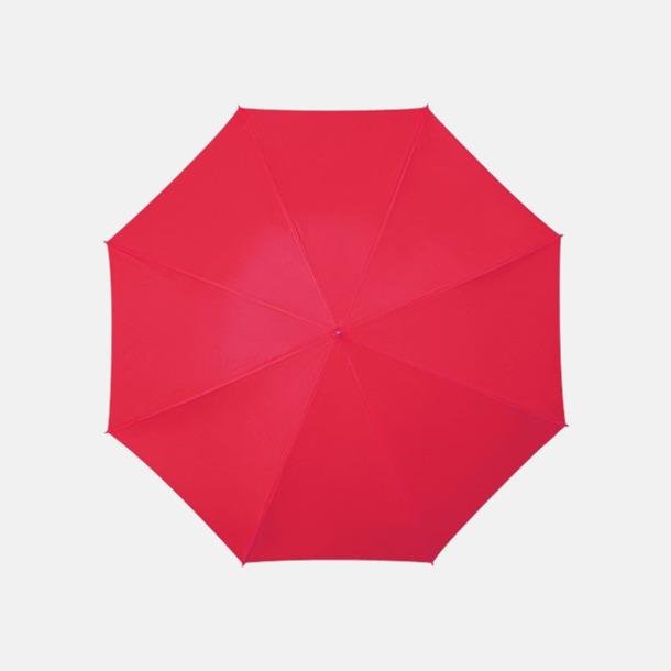 Röd (PMS 186C) Golfparaplyer med aluminium skaft - med reklamtryck