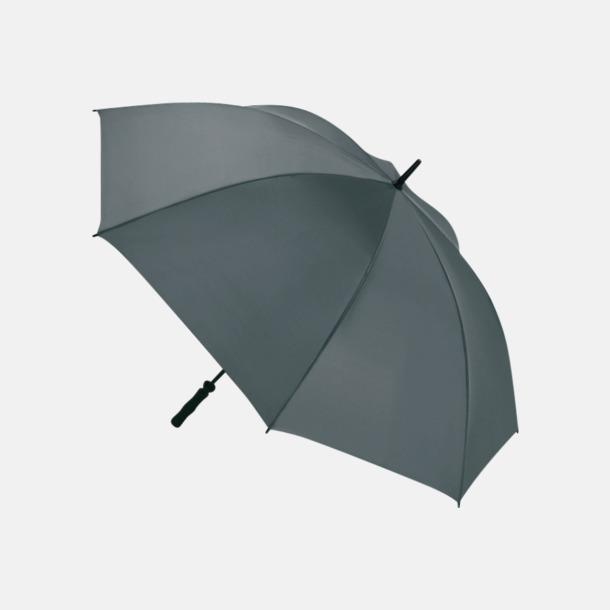 Grå Golfparaplyer med eget reklamtryck
