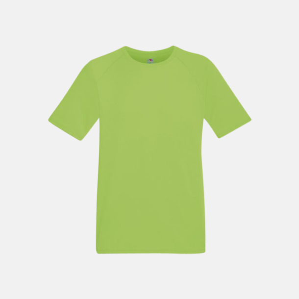 Limegrön (herr) Funktionströjor för herr, dam och barn - med reklamtryck