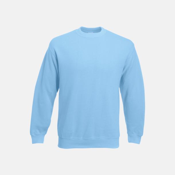 Sky Blue Klassisk sweatshirt med reklamtryck