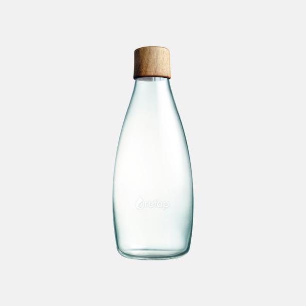 Träkork (se tillval) Större glasflaskor med reklamtryck