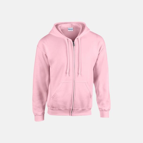 Ljusrosa Heavy Blend-tröja i herrmodell med reklamtryck