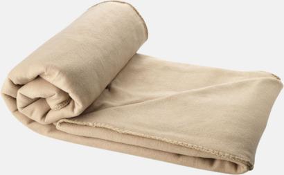 Beige Fleecefilt och bag - med tryck