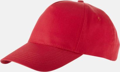 Röd Billiga bomullskepsar med reklamtryck