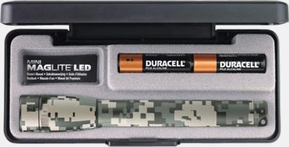 Universal Camoflage Maglites Mini LED AA med reklamlogga