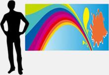 Banner av tyg i många storlekar med reklamtryck