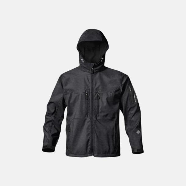 Charcoal Twill Riktigt fina soft shell jackor med reklamtryck