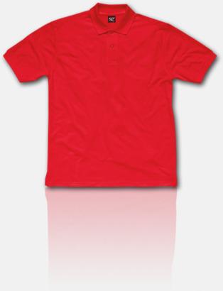 Röd Fina pikétröjor för herr, dam & barn med reklamtryck
