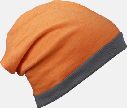 Orange Melange/Mörkgrå Tunna sommarmössor med reklambrodyr