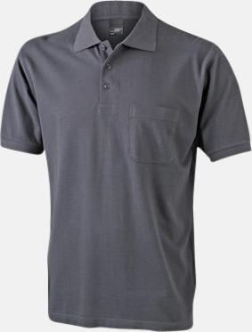 Graphite Fickförsedda pikétröjor med reklamtryck
