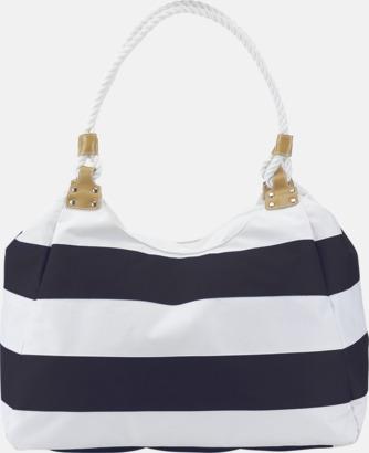 Marinblå / Vit Resväska och strandbag med reklamtryck