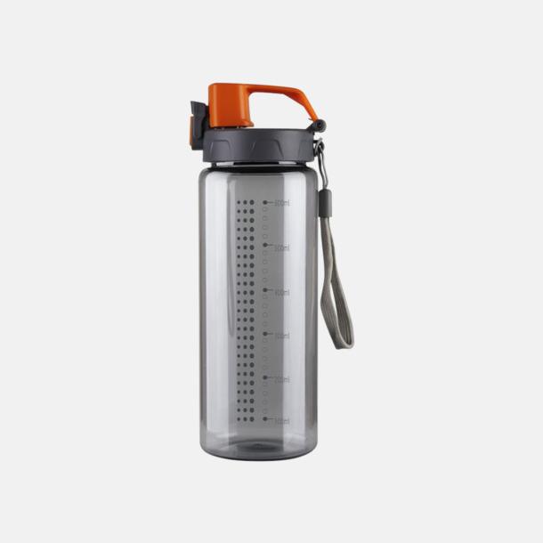 Grå / Orange Sportiga vattenflaskor med eget reklamtryck