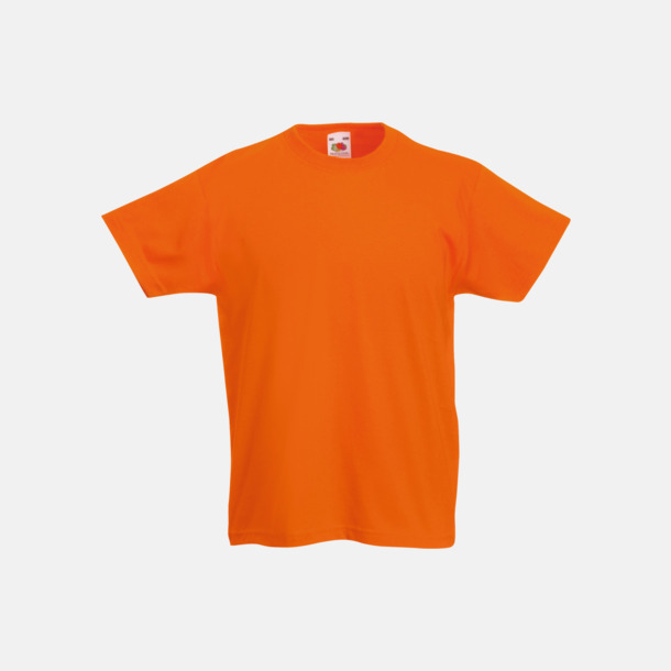 Orange T-shirt barn - Valueweigth barn t-shirt