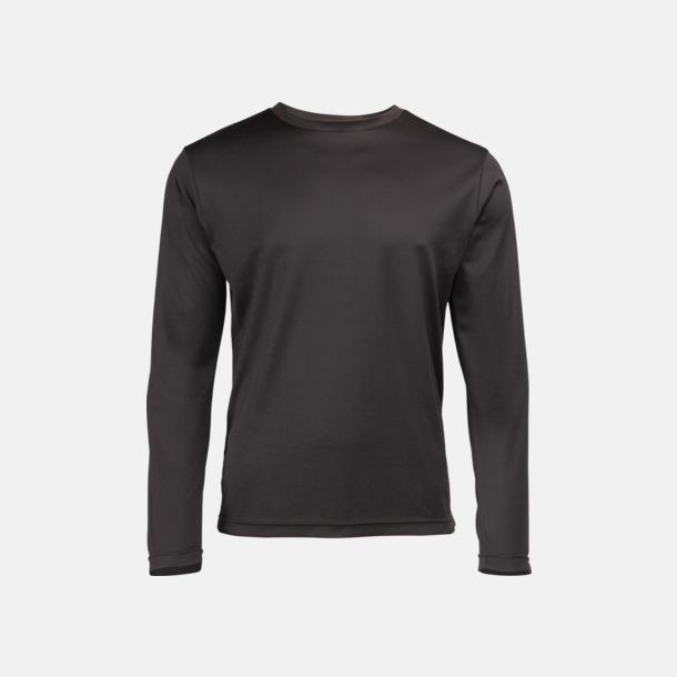 Jet Black (unisex) Unisex tränings t-shirts med långa ärmar - med reklamtryck