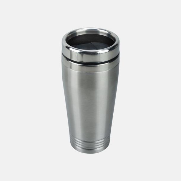 Silver / Svart Stålvärmekopp med eget reklamlogo