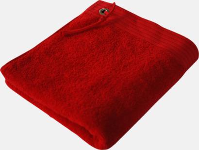 Paprika Red Handdukar med metallögla och snöre - med brodyr