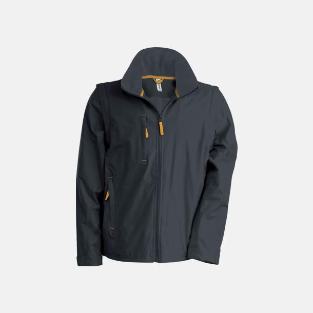 Dark Grey (solid)/Orange Jacka med avtagbara ärmar - med reklamtryck