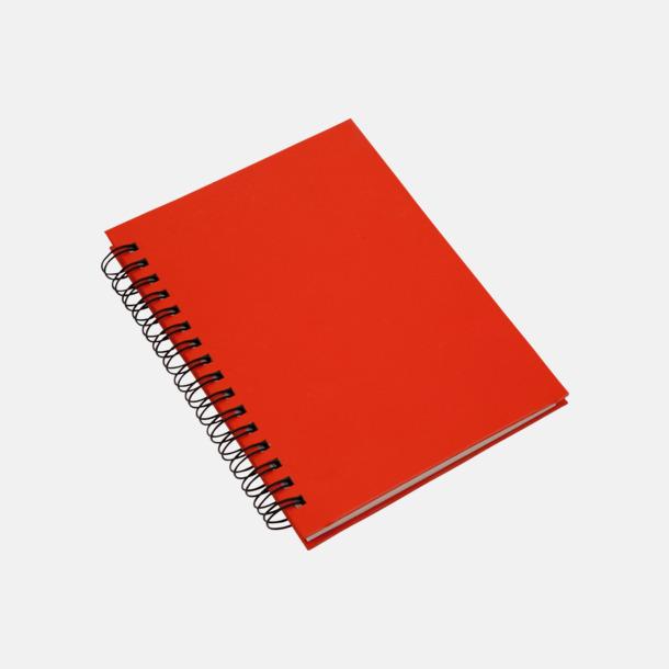 Röd (A6) Eko spiralblock i A5 och A6 - med