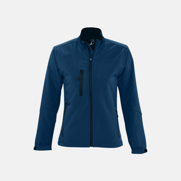 Abyss Blue (dam) Softshell jackor i herr- & dammodell med reklamtryck