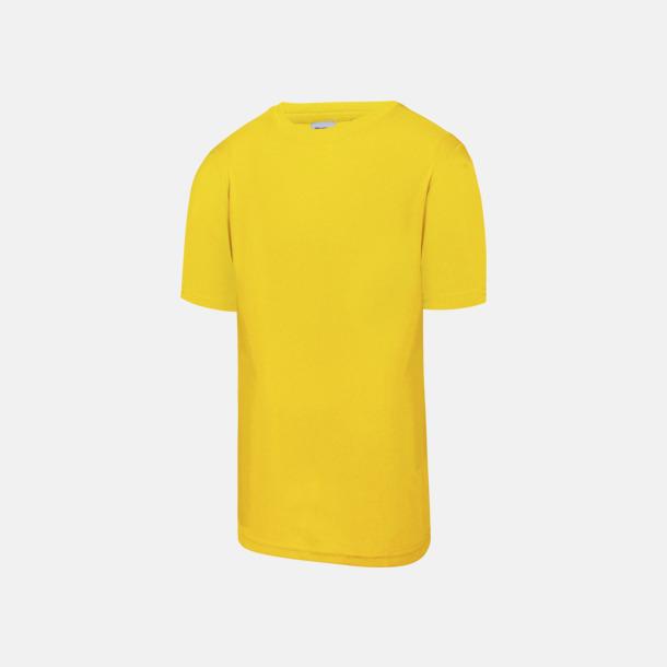 Sun Yellow Billig funktionströja med eget tryck