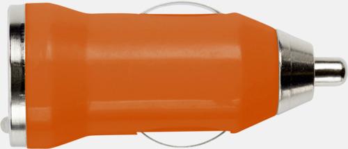 Orange Laddare för cigarettuttaget med reklamtryck