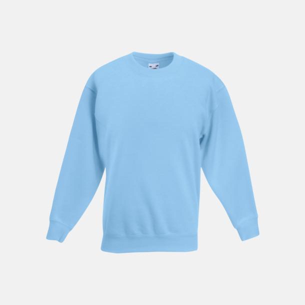 Sky Blue Tjocktröjor för barn med reklamtryck