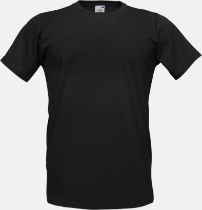 Svart Tajtare reklamt-shirt med figurnära passform