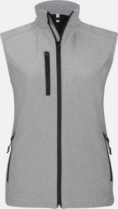 Marl Grey (dam) Softshell Bodywarmers i herr- & dammodell med reklamtryck