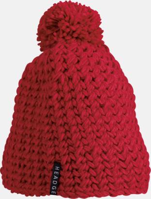 Röd Virkade, enfärgadetoppluvor med brodyr