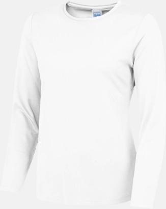 Arctic White (dam) Unisex tränings t-shirts med långa ärmar - med reklamtryck