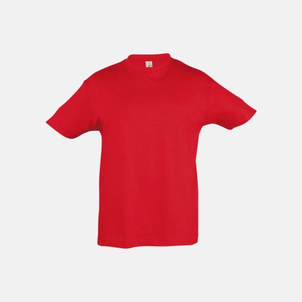 Röd Billig barn t-shirts i rmånga färger med reklamtryck
