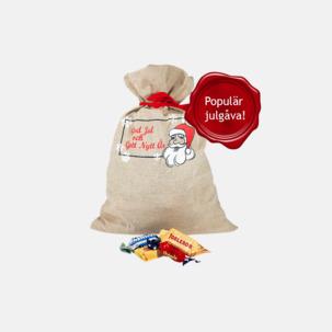Julsäckar i 3 storlekar med godis