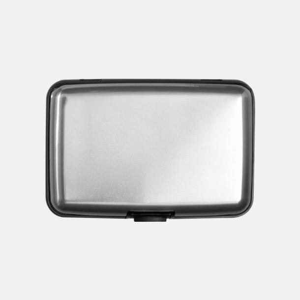 Silver/Mörkgrå Hardcase korthållare med tryck eller gravyr
