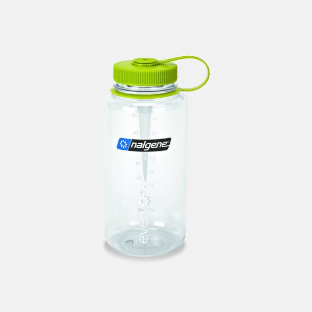 Clear/Grön (1 l) Färgglada vattenflaskor med eget tryck