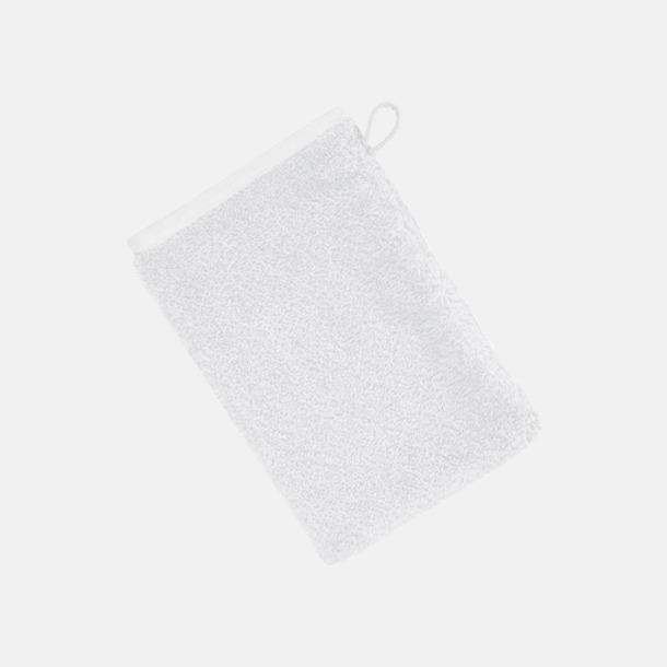 Vit (22 x 16 cm) Mjuka bomullshanddukar i 5 storlekar med reklambrodyr