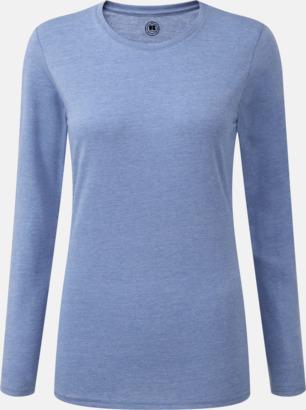 Blue Marl (dam) Färgstarka långärms t-shirts i herr-, dam och barnmodell