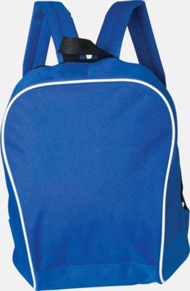 Blå Retroryggsäckar i snygg design - med reklamtryck