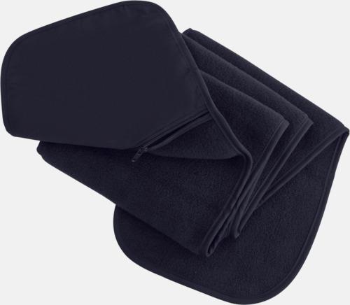 Marinblå Halsduk med praktisk ficka - med reklamtryck